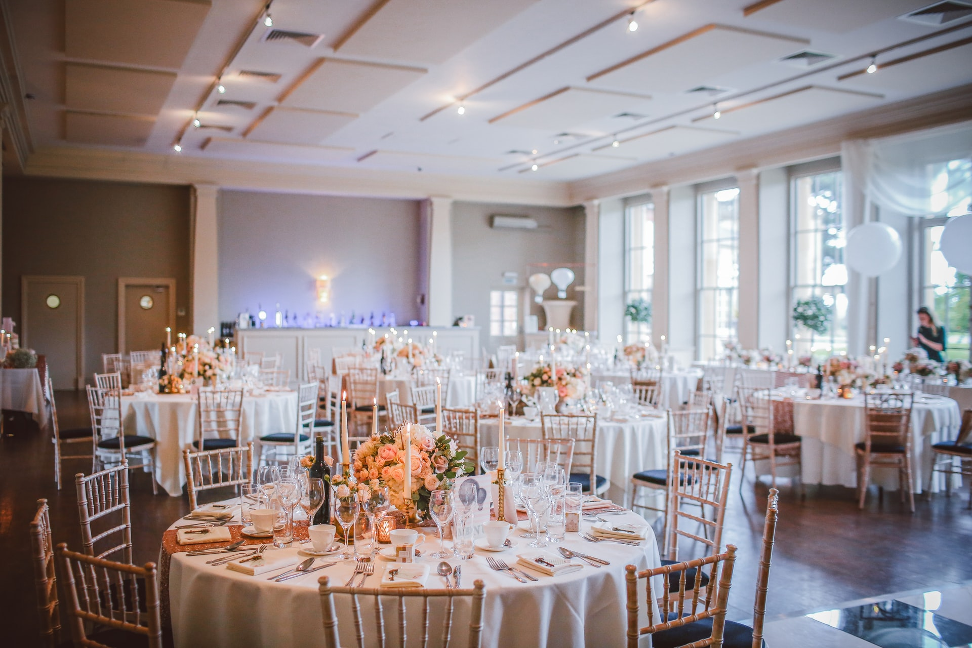 A photo of a wedding seating floor